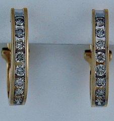 1ctw Diamond French Clip Hoop Earrings
