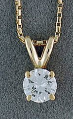 1/2ct Diamond Solitaire Pendant on a Chain