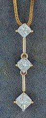 3/4ctw Diamond Drop Pendant on a Chain