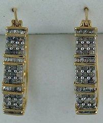 1ctw Diamond Hoop Earrings