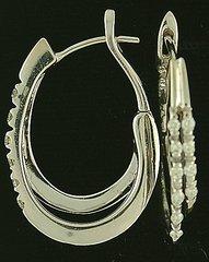 Diamond Double Hoop Earrings