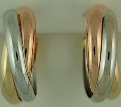 Tri-Color Hoop Earrings