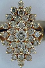 Ladies 3ctw Diamond Cluster Ring