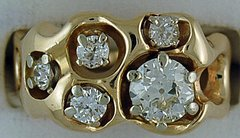 1-1/2ctw Diamond Nugget Ring