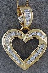 5/8ctw Diamond Heart Pendant on a Chain