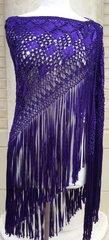 Macrame Shawl. Purple