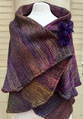 CAPE. Handwoven Merino Wool Cape. 035 SOLD OUT