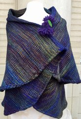 CAPE. Handwoven Merino Wool Cape 034. SOLD OUT