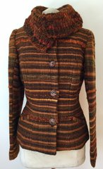 JACKET. Handwoven Wool Jacket 004 LARGE SIZE ONLY