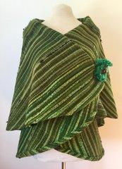 CAPE. Handwoven Wool Cape 041
