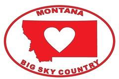 Big Sky Country Heart Sticker