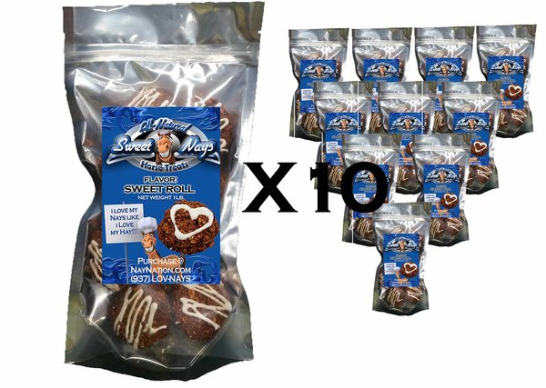 Sweet Rolls Resealable Bag 10 Pack