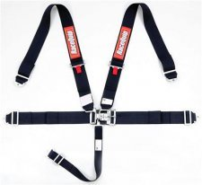 RaceQuip Latch & Link 5-Point Harness Assembly - Pull Down - Bolt-In or Wrap Around Mount - Black
