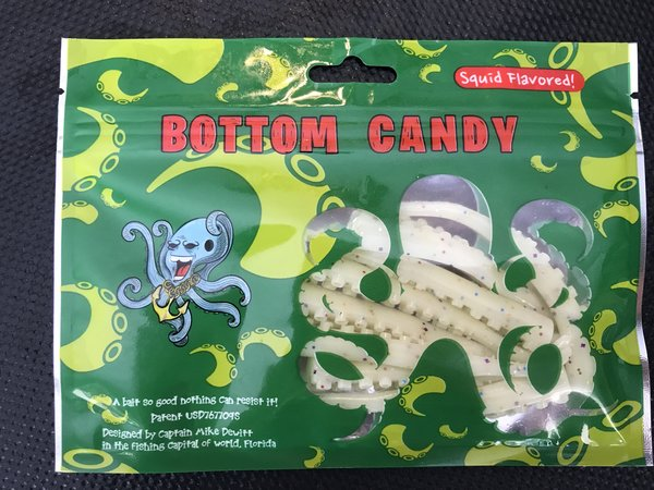 "3"" Unrigged Glow-in-the-Dark Pearl/ Pina Colada (8 Pack) Bottom Candy Tentacles"