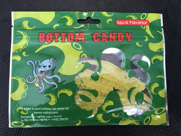 """3"""" Unrigged Yellow/ Lemon (8 Pack) Bottom Candy Tentacles"""