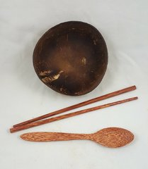 Coconut Shell Bowl Set (handmade + natural)