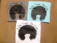 Kinky Twisted Natural Hair T-Shirt