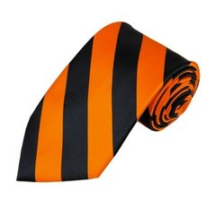 C-02   Black and Orange College Stripe