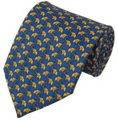 PT-E03 | Big Yellow Elephant Print on Royal Blue