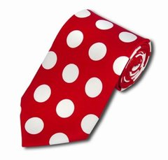 PD-09 | Red and White Big Polkadot Tie