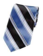 P-09 | Steel Blue and Black Multi Striped Woven Necktie