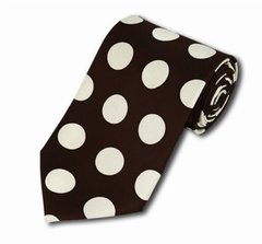 PD-16 | Dark Brown and White Big Polkadot Tie