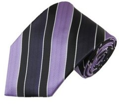 P-08 | Lavender, Eggplant and Black Wide Stripe