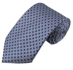 PT-01 | Light Blue and Black Geometric Dots Woven Necktie