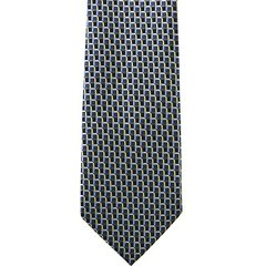 PTP-038 | Light Yellow and Blue Multi Grid Woven Necktie