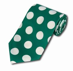PD-14 | Kelly Green and White Big Polkadot Tie