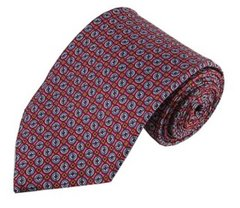 PT-027 | Circle Print Pattern on Light Raspberry Men's Printed Design Necktie