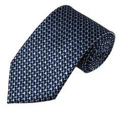 PT-023 | Multi-Tone Blue Geometric Pixel Pattern Woven Necktie