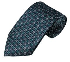 PT-022 | Teal Green and Silver Multi Small Dotted Woven Necktie
