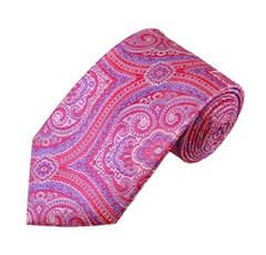 PSY-24 | Pink, Fuchsia and Purple Woven Paisley Necktie