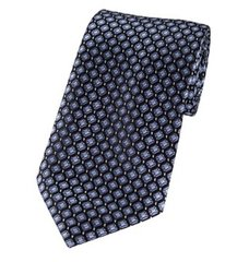 PT-029 | Black and Metallic Blue Diamond Woven Necktie