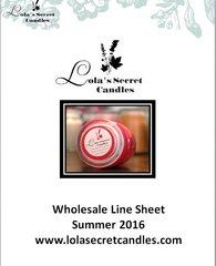 Wholesale Line Sheet