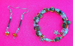 Stars and Strips Bracelet and Earrings