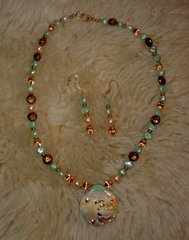 Mother of Pearl Necklace and Earrings