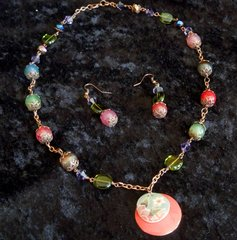 Springtime in the Rockies Necklace and Earrings