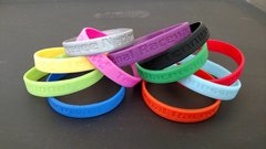 Silicone embossed bracelets