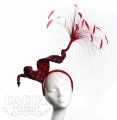Saoirse red & black polkadot