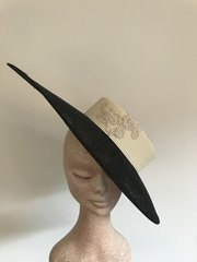 Black and Ivory Disc Hat