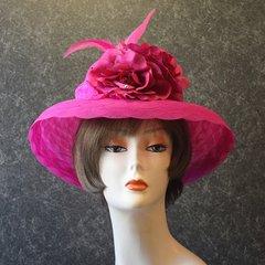 Fuchsia Church Hat