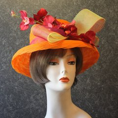 Orange Church Hat