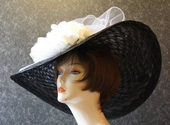Black and White Derby Hat