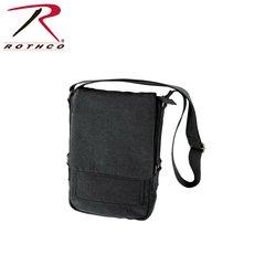Rothco Vintage Canvas Military Tech Bag (Black)