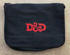 DUNGEONS AND DRAGONS EMBROIDERED MESSENGER BAG