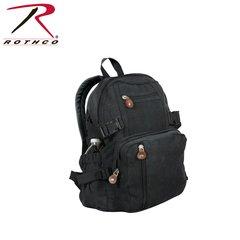 Rothco Vintage Canvas Mini Backpack (Black)
