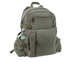 Rothco Jumbo Vintage Canvas Backpack (Olive)