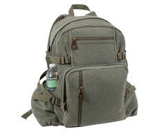 Rothco Jumbo Vintage Canvas Backpack (Olive)